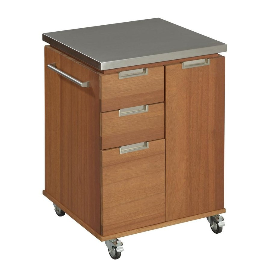 Home Styles 36-in H x 24-in W x 24-in D Wood Outdoor Cart