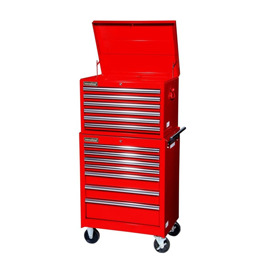 ... Tool Storage 13-Drawer Ball-Bearing Steel Tool Cabinet (Red) at Lowes