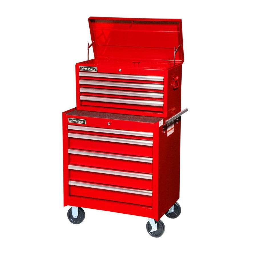 International Tool Storage 9-Drawer Ball-Bearing Steel Tool Cabinet (Red)