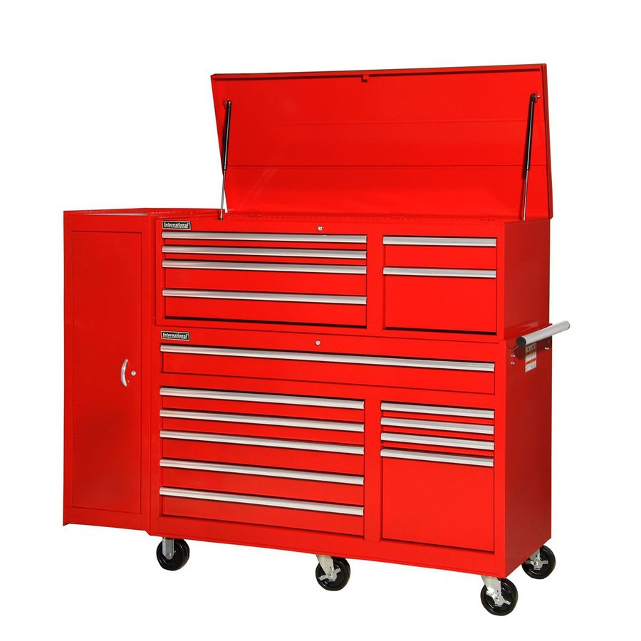 International Tool Storage 16-Drawer Ball-Bearing Steel Tool Cabinet (Red)