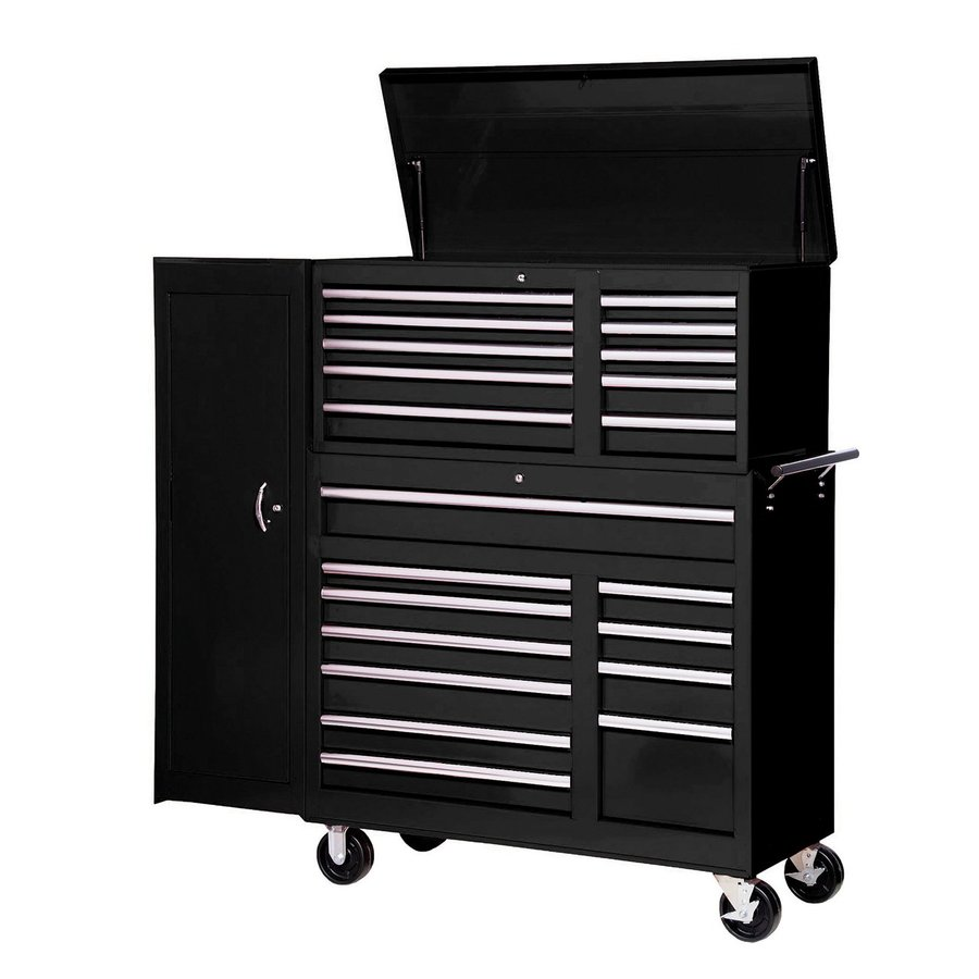 International Tool Storage 21-Drawer Ball-Bearing Steel Tool Cabinet (Black)
