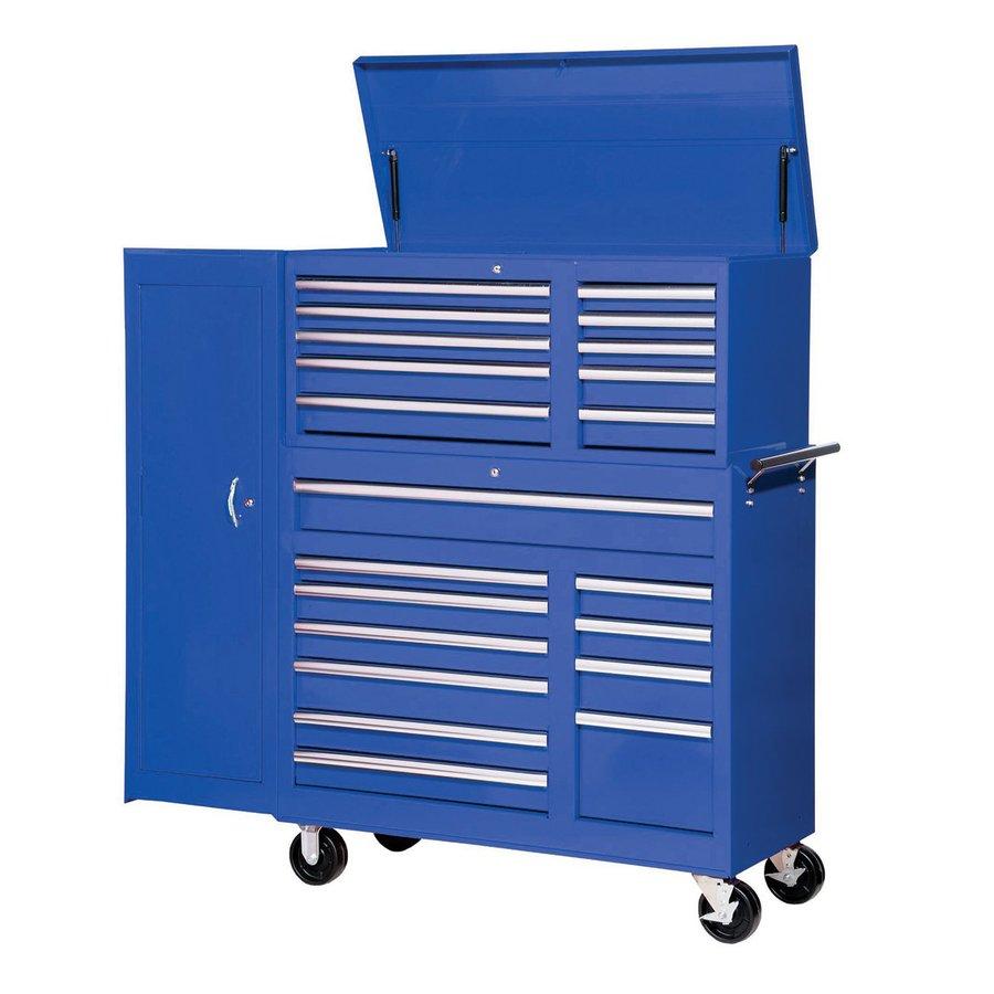 International Tool Storage 21-Drawer Ball-Bearing Steel Tool Cabinet (Blue)