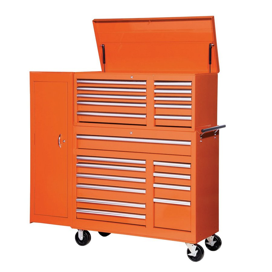 International Tool Storage 21-Drawer Ball-Bearing Steel Tool Cabinet (Orange)