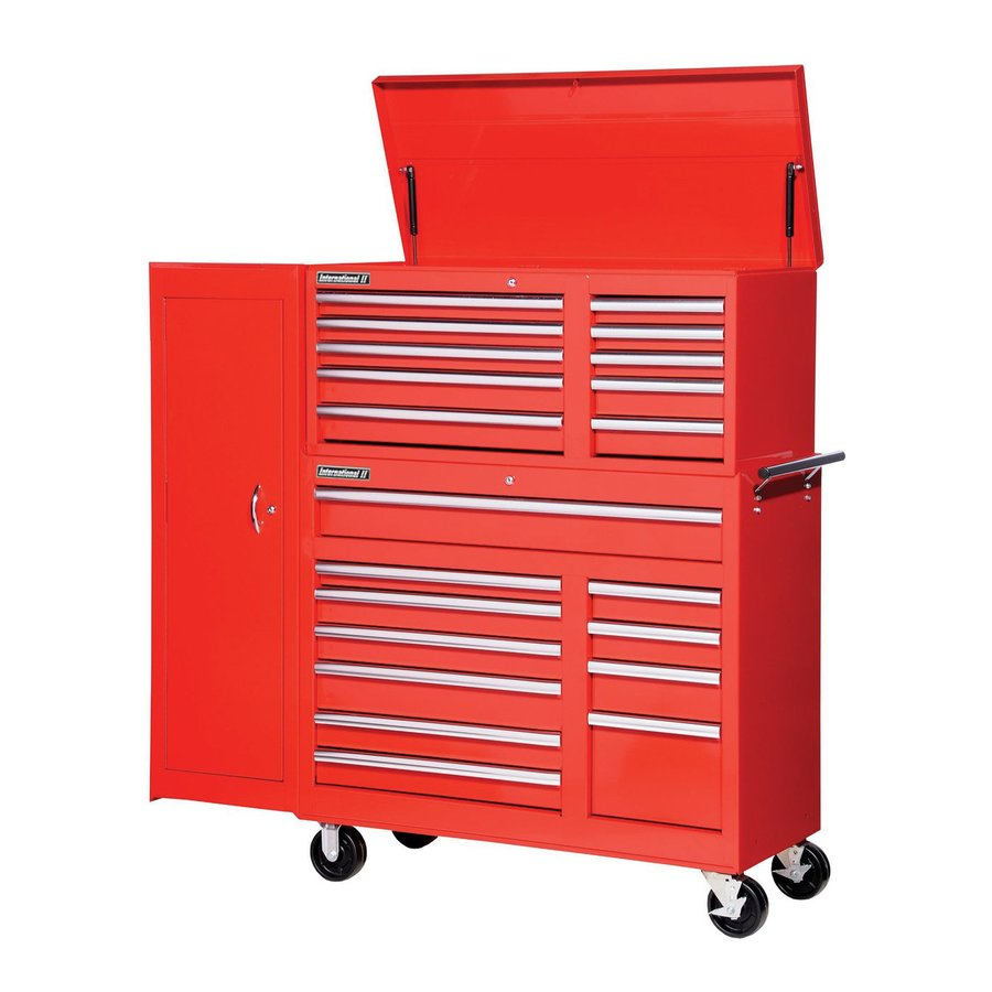 International Tool Storage 21-Drawer Ball-Bearing Steel Tool Cabinet (Red)