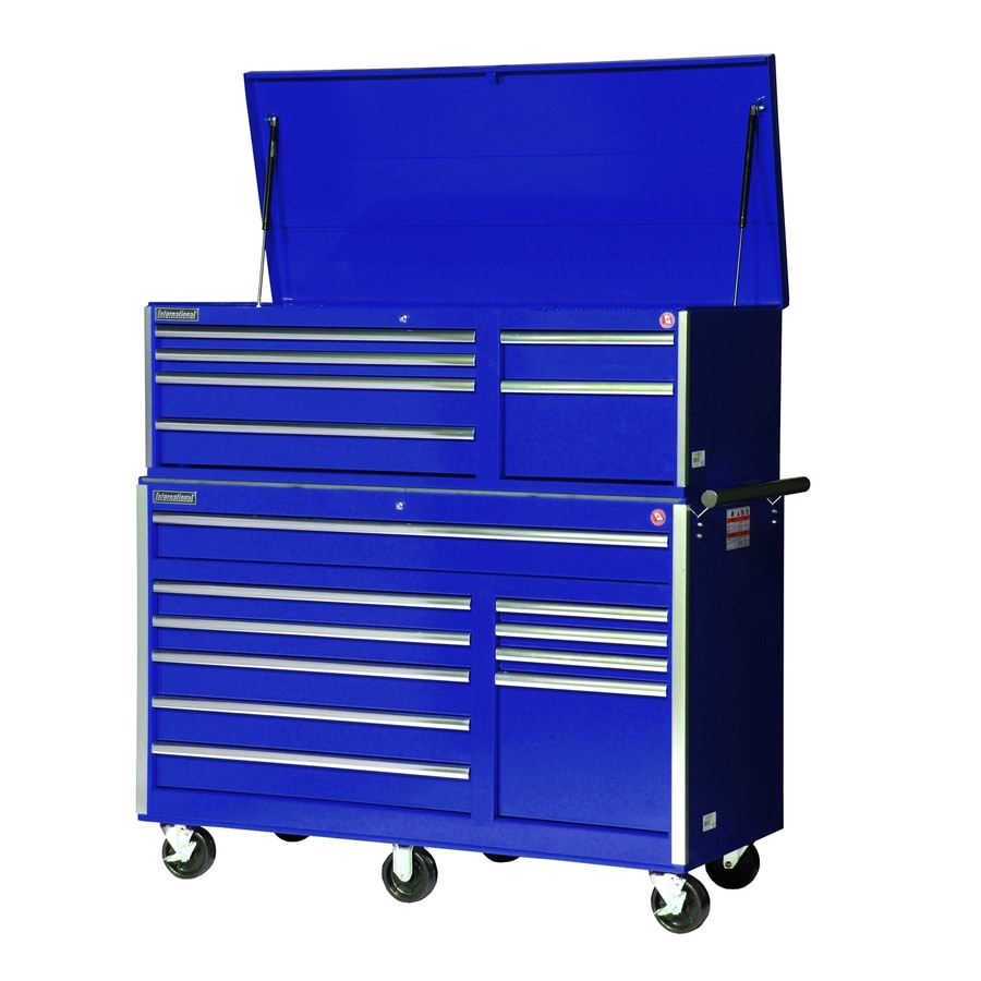 International Tool Storage 16-Drawer Ball-Bearing Steel Tool Cabinet (Blue)