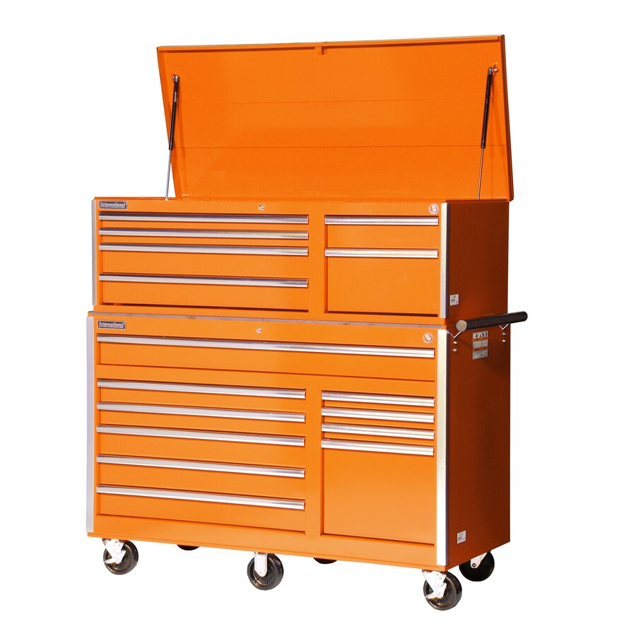 International Tool Storage 16-Drawer Ball-Bearing Steel Tool Cabinet (Orange)