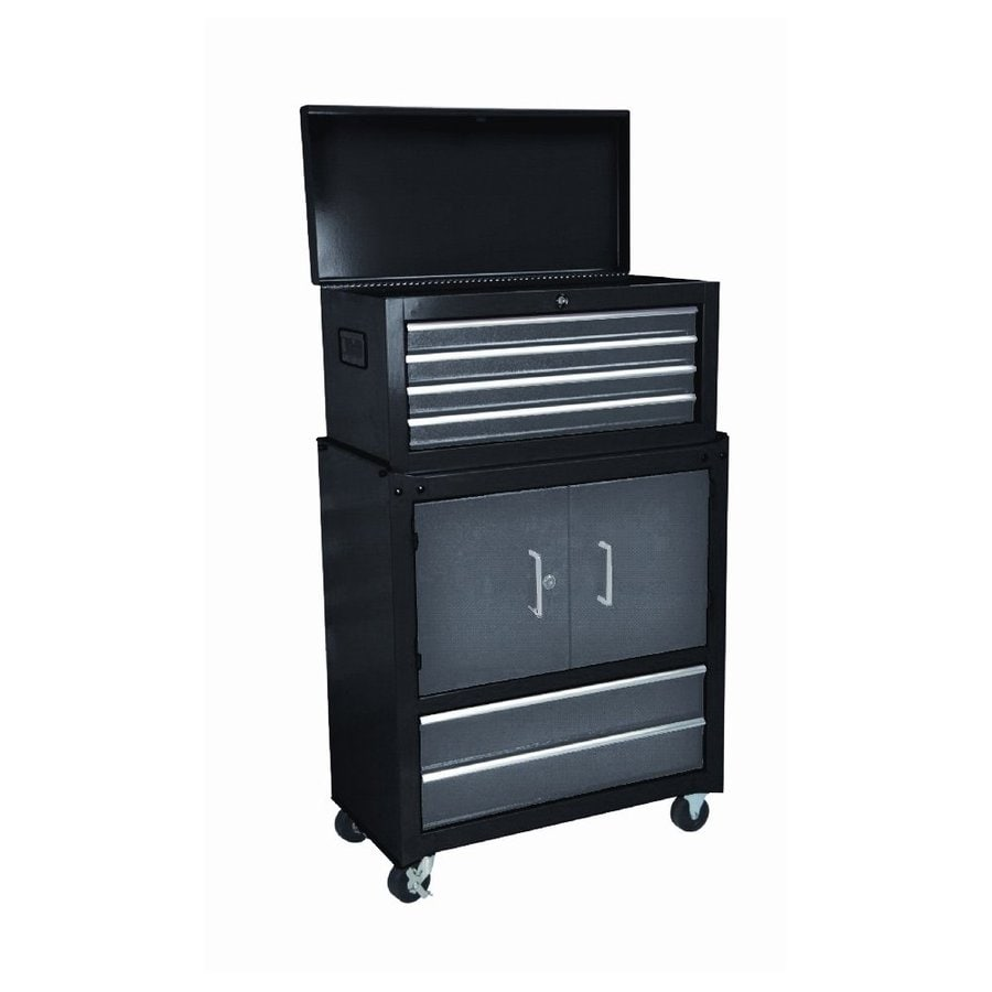 International Tool Storage 43-1/4-in x 14-3/16-in 6-Drawer Ball-Bearing Steel Tool Cabinet (Black)