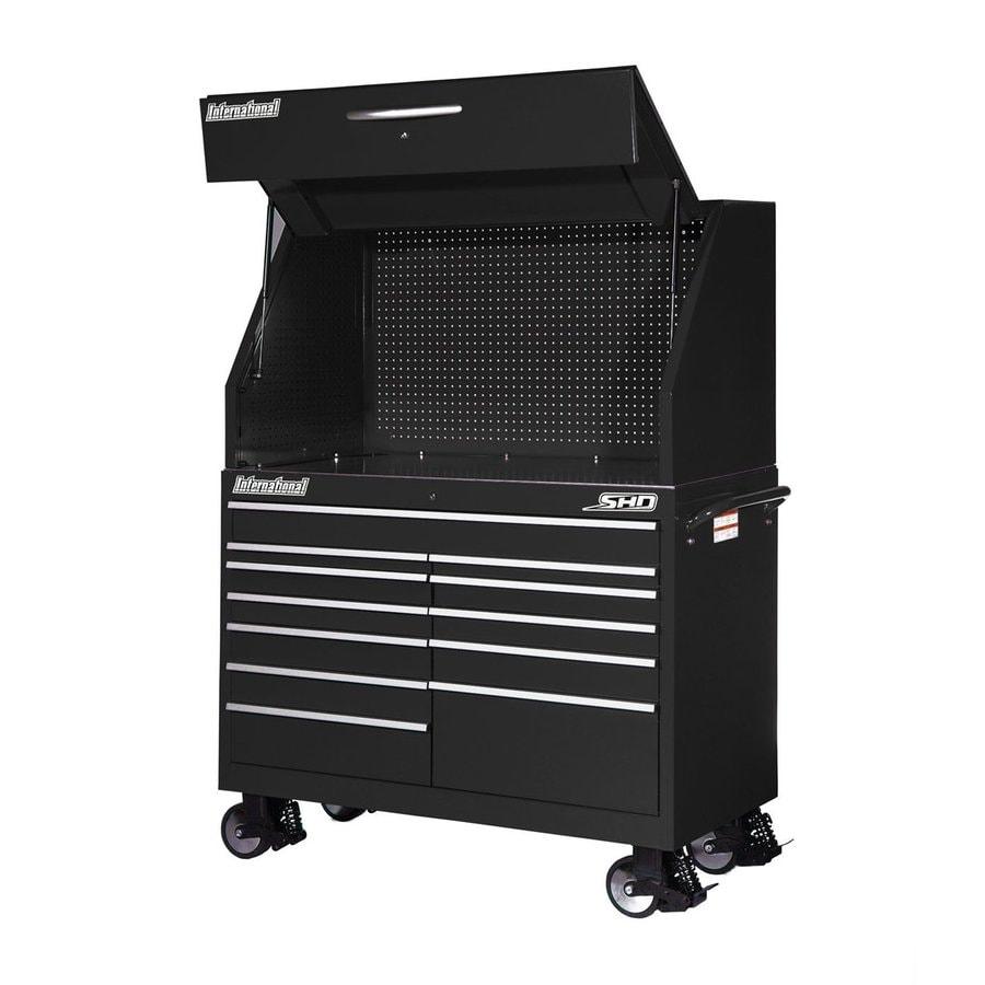 International Tool Storage 12-Drawer Ball-Bearing Steel Tool Cabinet (Black)