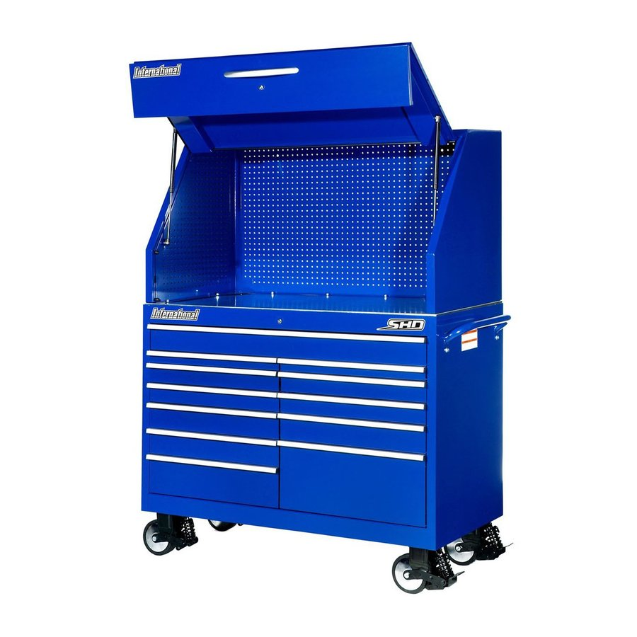 International Tool Storage 12-Drawer Ball-Bearing Steel Tool Cabinet (Blue)