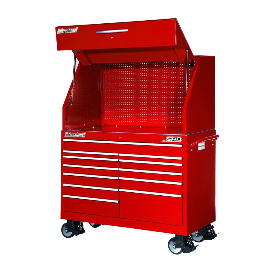 International Tool Storage 12-Drawer Ball-Bearing Steel Tool Cabinet (Red)