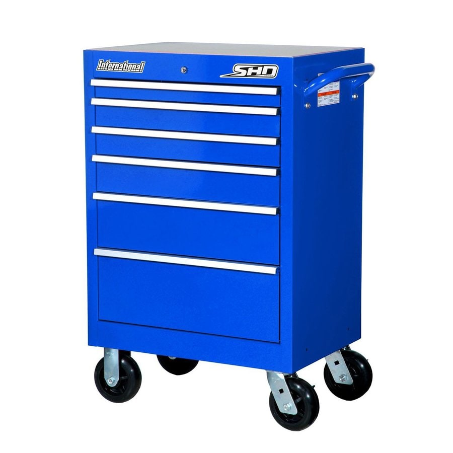 International Tool Storage 42-in x 27-in 6-Drawer Ball-Bearing Steel Tool Cabinet (Blue)