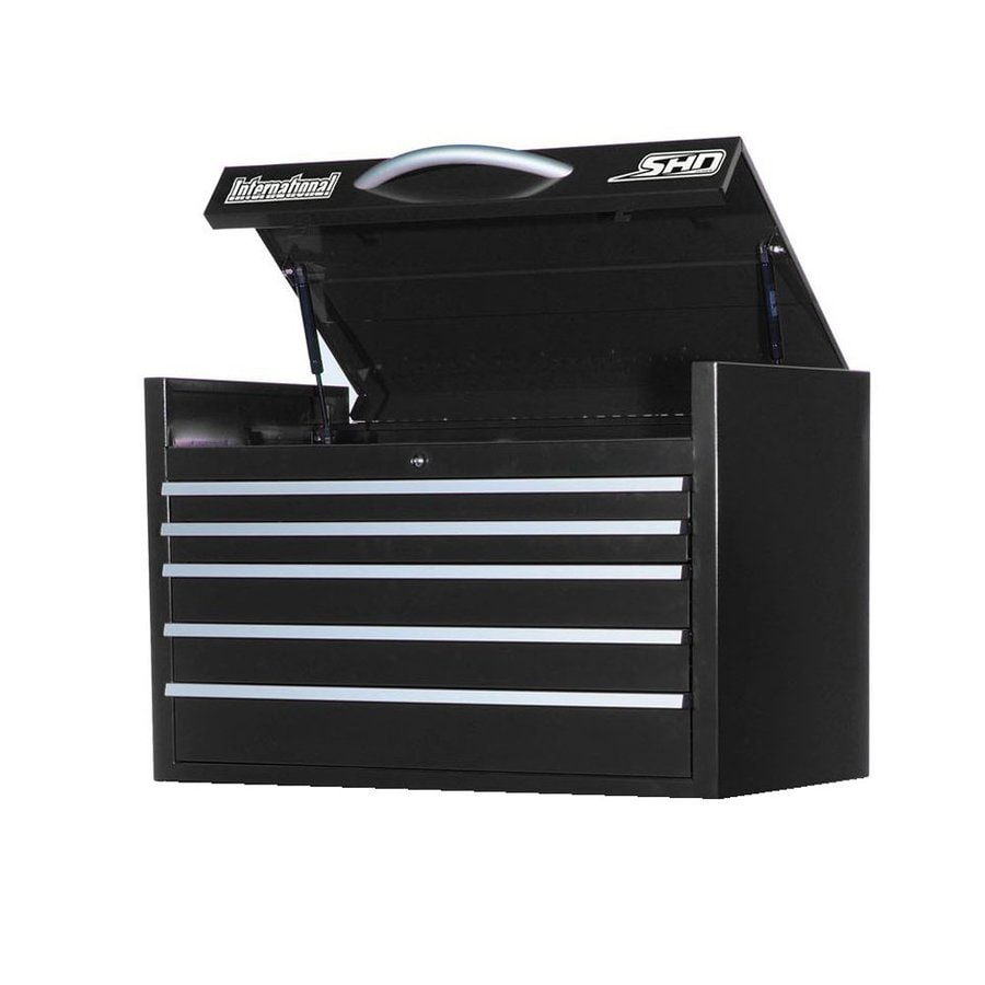 International Tool Storage Super Heavy Duty 22.75-in x 35-in 6-Drawer Ball-Bearing Steel Tool Chest (Black)