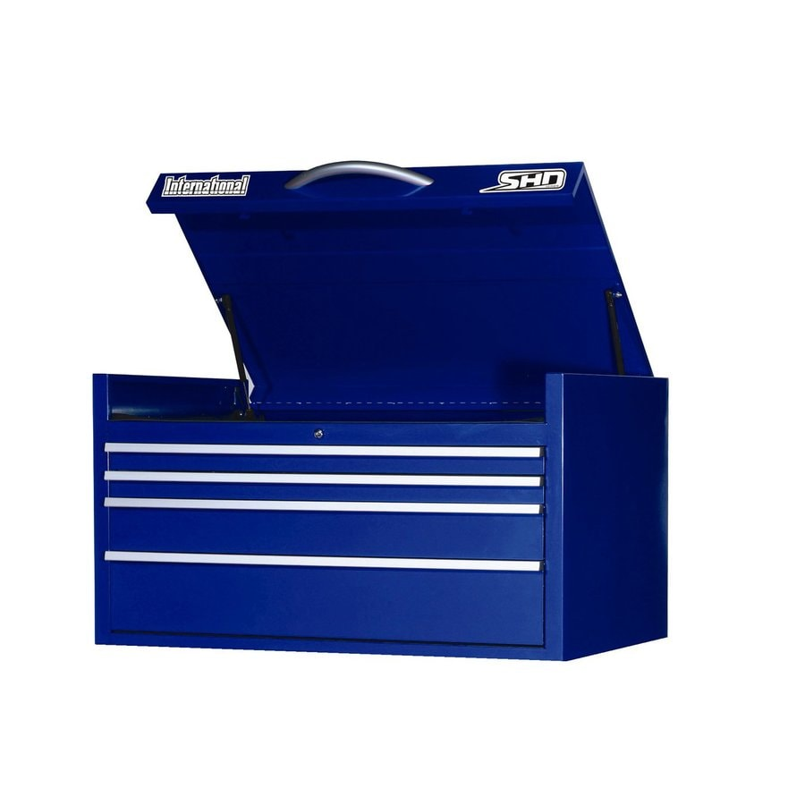 International Tool Storage Super Heavy Duty 22.75-in x 35-in 6-Drawer Ball-Bearing Steel Tool Chest (Blue)