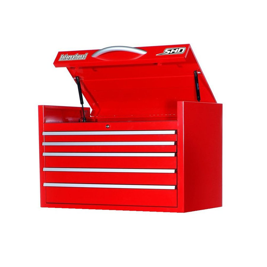 International Tool Storage Super Heavy Duty 22.75-in x 35-in 6-Drawer Ball-Bearing Steel Tool Chest (Red)