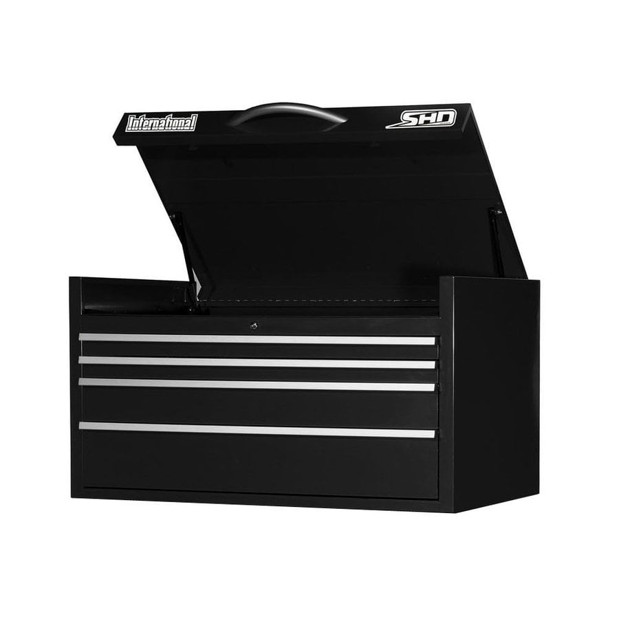 International Tool Storage Super Heavy Duty 22.75-in x 41.4688-in 4-Drawer Ball-Bearing Steel Tool Chest (Black)