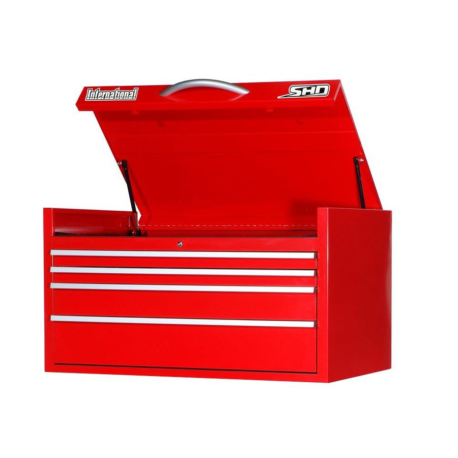 International Tool Storage Super Heavy Duty 22.75-in x 41.4688-in 4-Drawer Ball-Bearing Steel Tool Chest (Red)