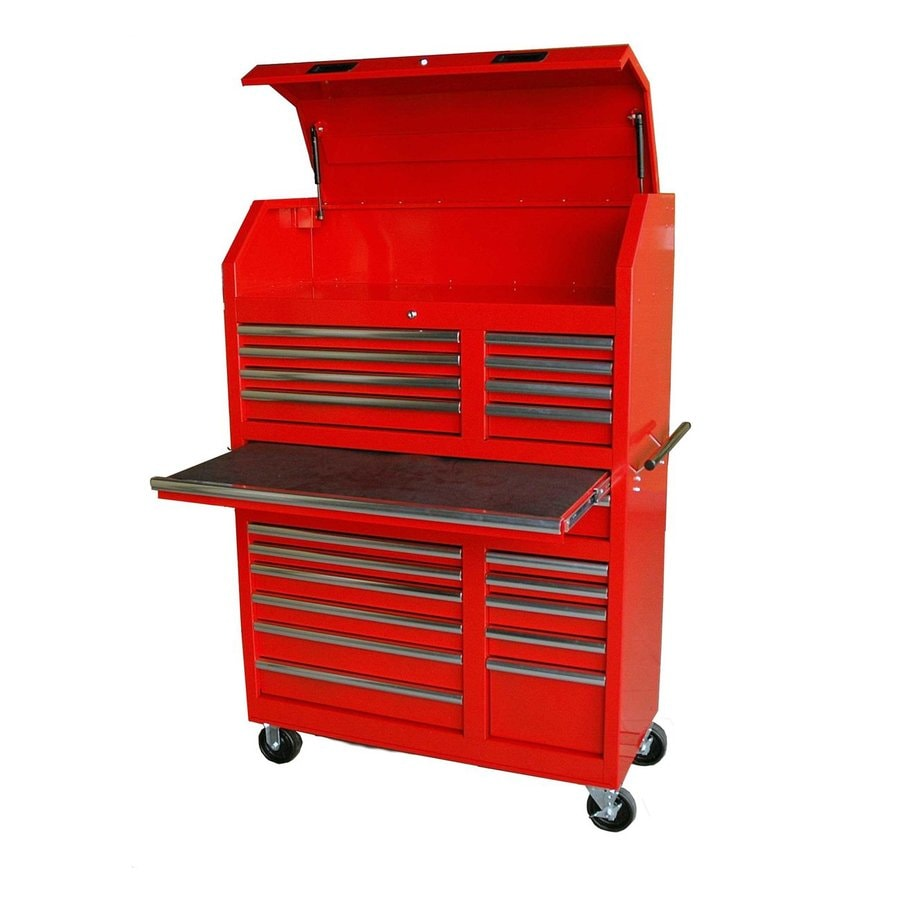 International Tool Storage 5-ft 1-5/16-in x 3-ft 5-1/2-in 20-Drawer Ball-Bearing Steel Tool Cabinet (Red)