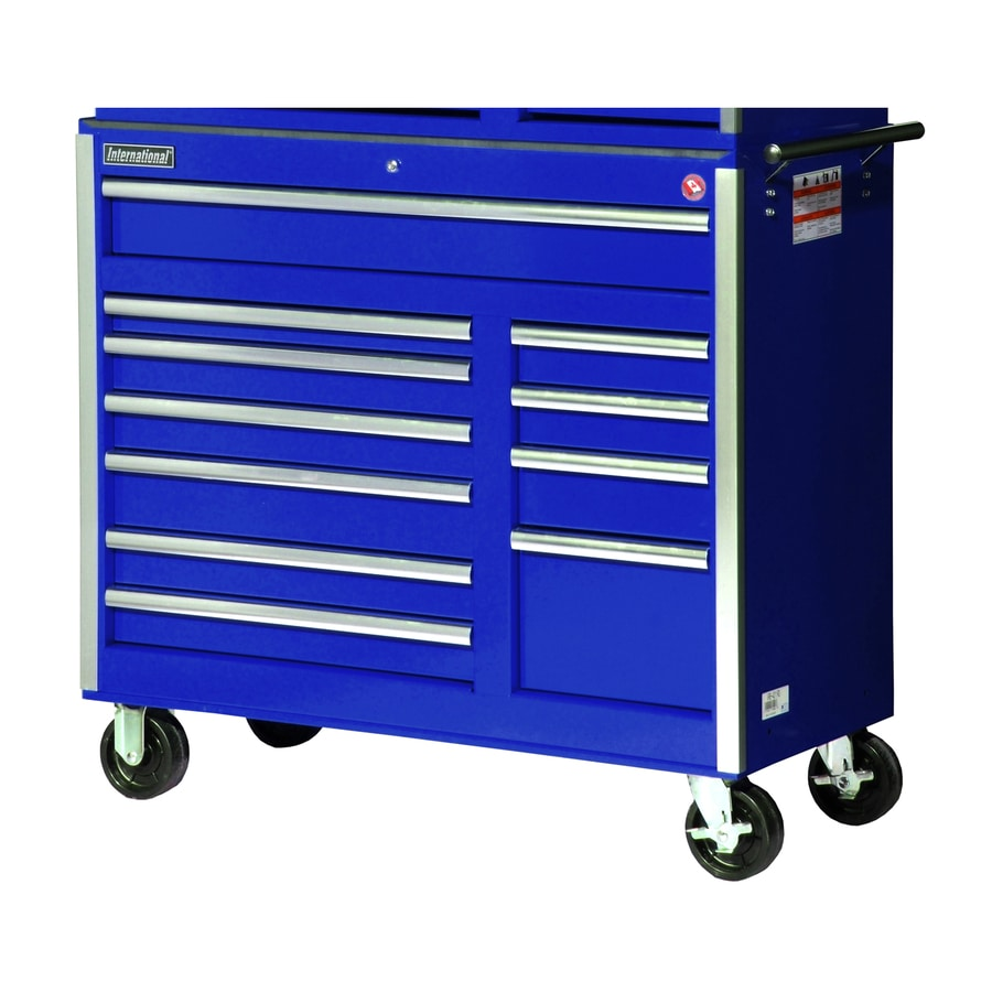 International Tool Storage 39-7/8-in x 41-1/2-in 11-Drawer Ball-Bearing Steel Tool Cabinet (Blue)