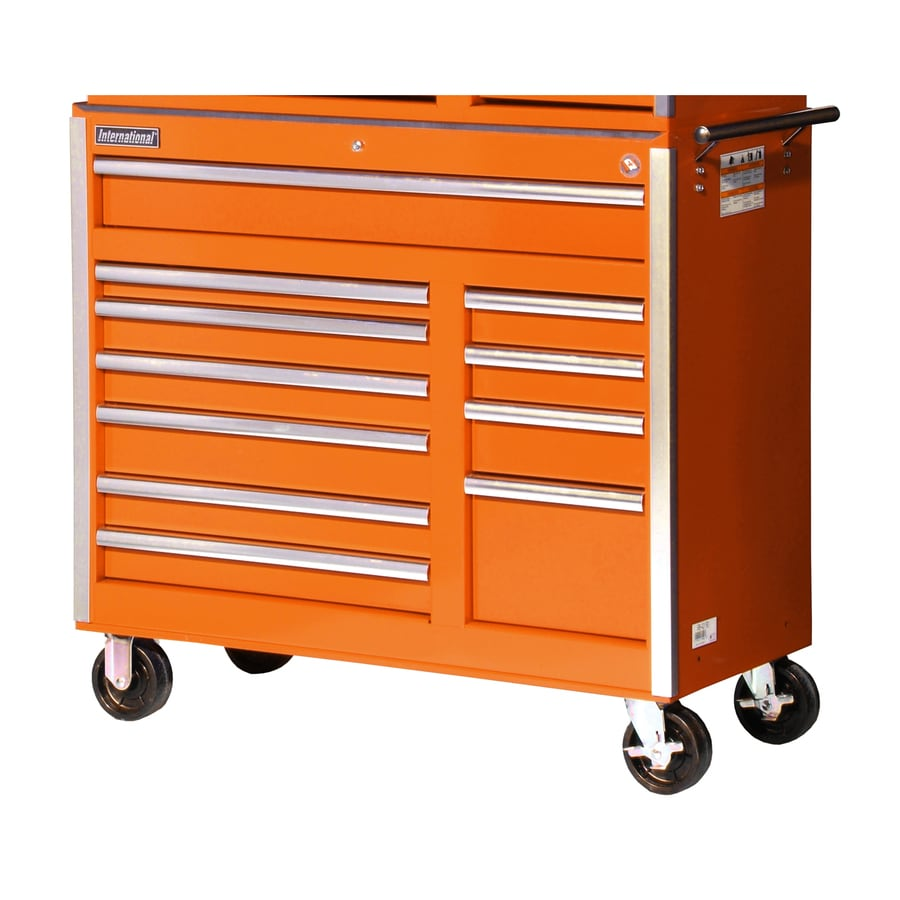 International Tool Storage 39-7/8-in x 41-1/2-in 11-Drawer Ball-Bearing Steel Tool Cabinet (Orange)
