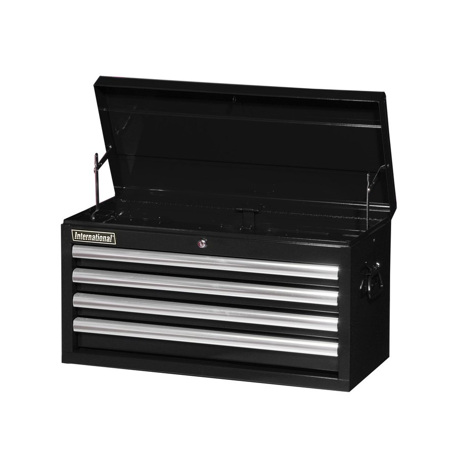 International Tool Storage Value 14.5-in x 26-in 4-Drawer Ball-Bearing Steel Tool Chest (Black)