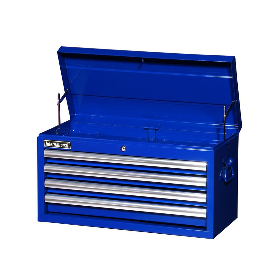International Tool Storage Value 14.5-in x 26-in 4-Drawer Ball-Bearing Steel Tool Chest (Blue)