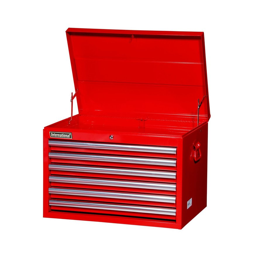 International Tool Storage Value 18.9375-in x 26-in 6-Drawer Ball-Bearing Steel Tool Chest (Red)