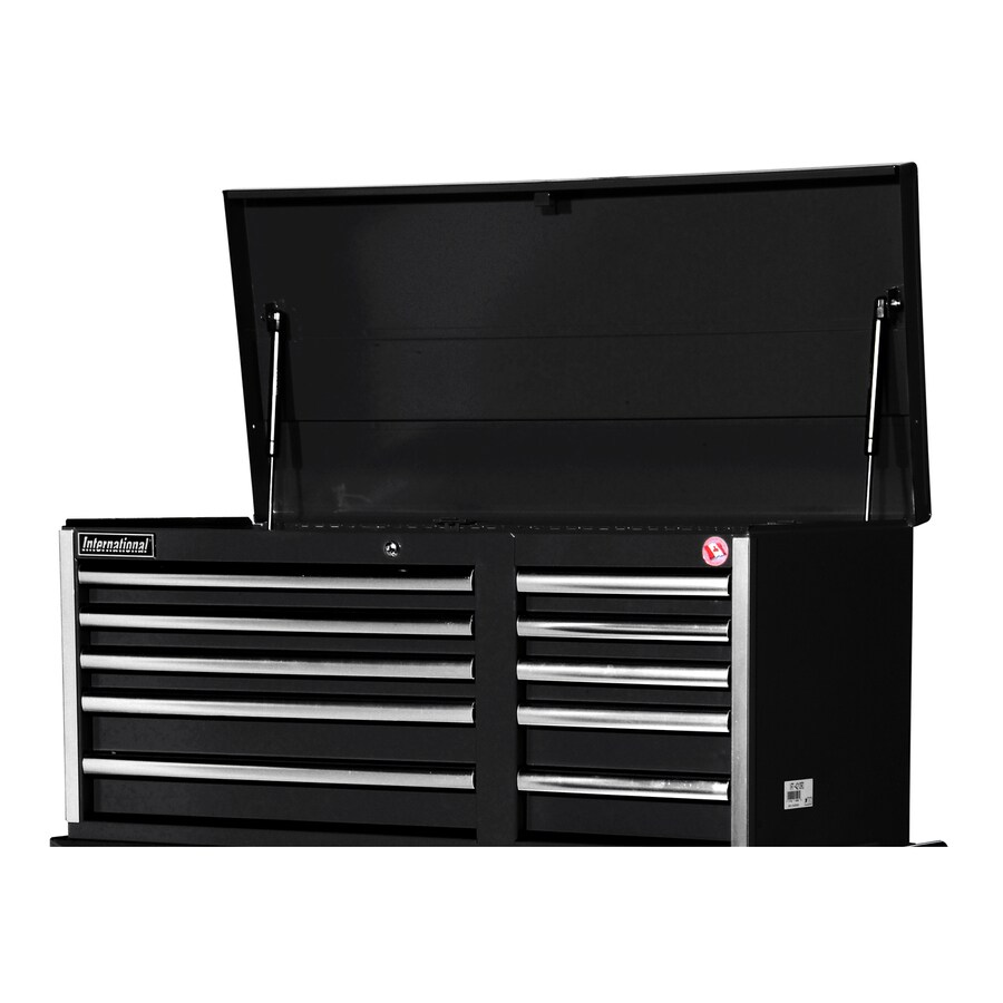 International Tool Storage Value 19.25-in x 40.875-in 10-Drawer Ball-Bearing Steel Tool Chest (Black)