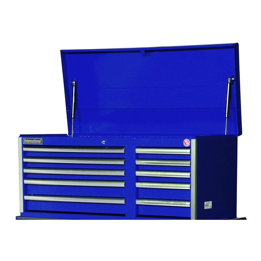 International Tool Storage Value 19.25-in x 40.875-in 10-Drawer Ball-Bearing Steel Tool Chest (Blue)