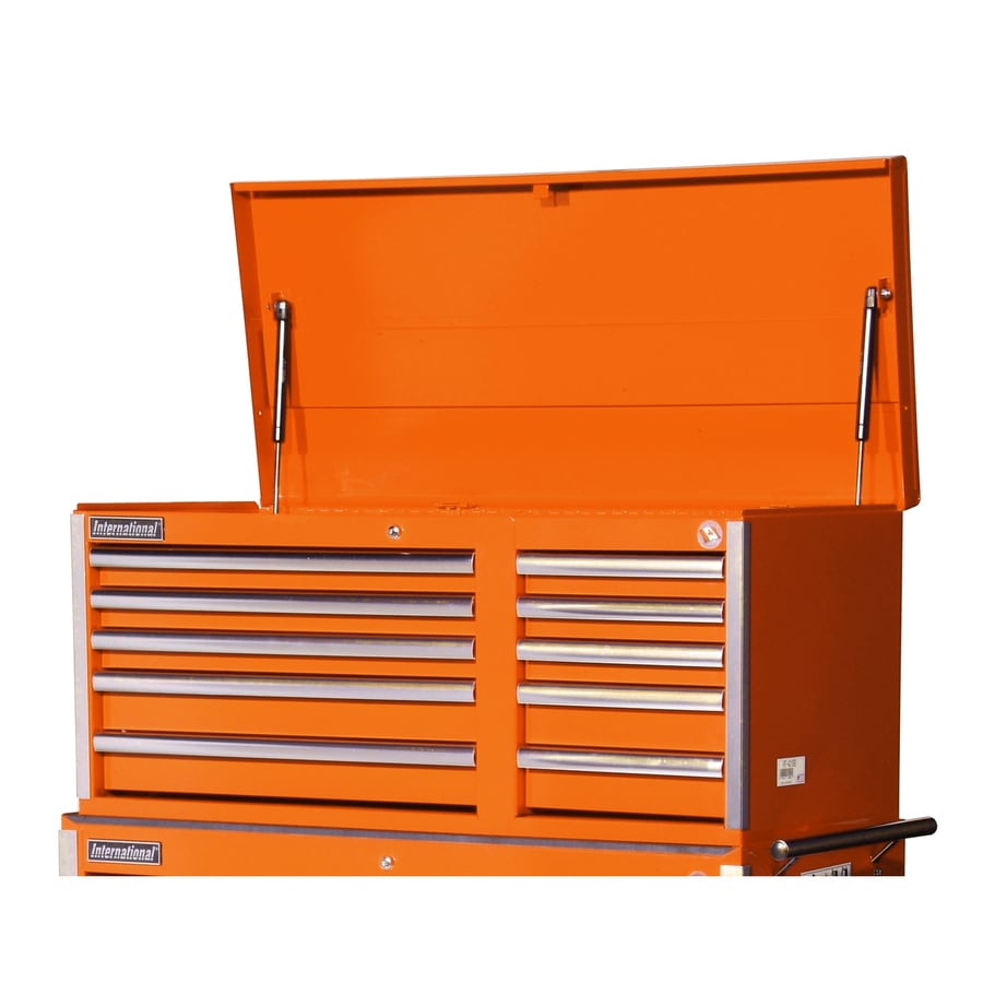 International Tool Storage Value 19.25-in x 40.875-in 10-Drawer Ball-Bearing Steel Tool Chest (Orange)