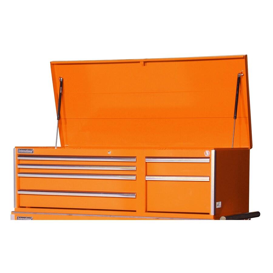 International Tool Storage Value 19.1-in x 55.5-in 6-Drawer Ball-Bearing Steel Tool Chest (Orange)