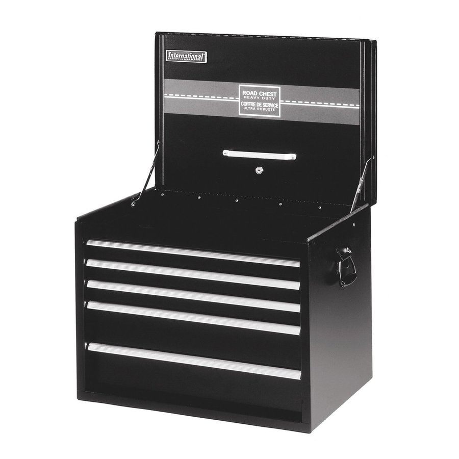 International Tool Storage 22-in x 26-in 5-Drawer Friction Steel Tool Chest (Black)