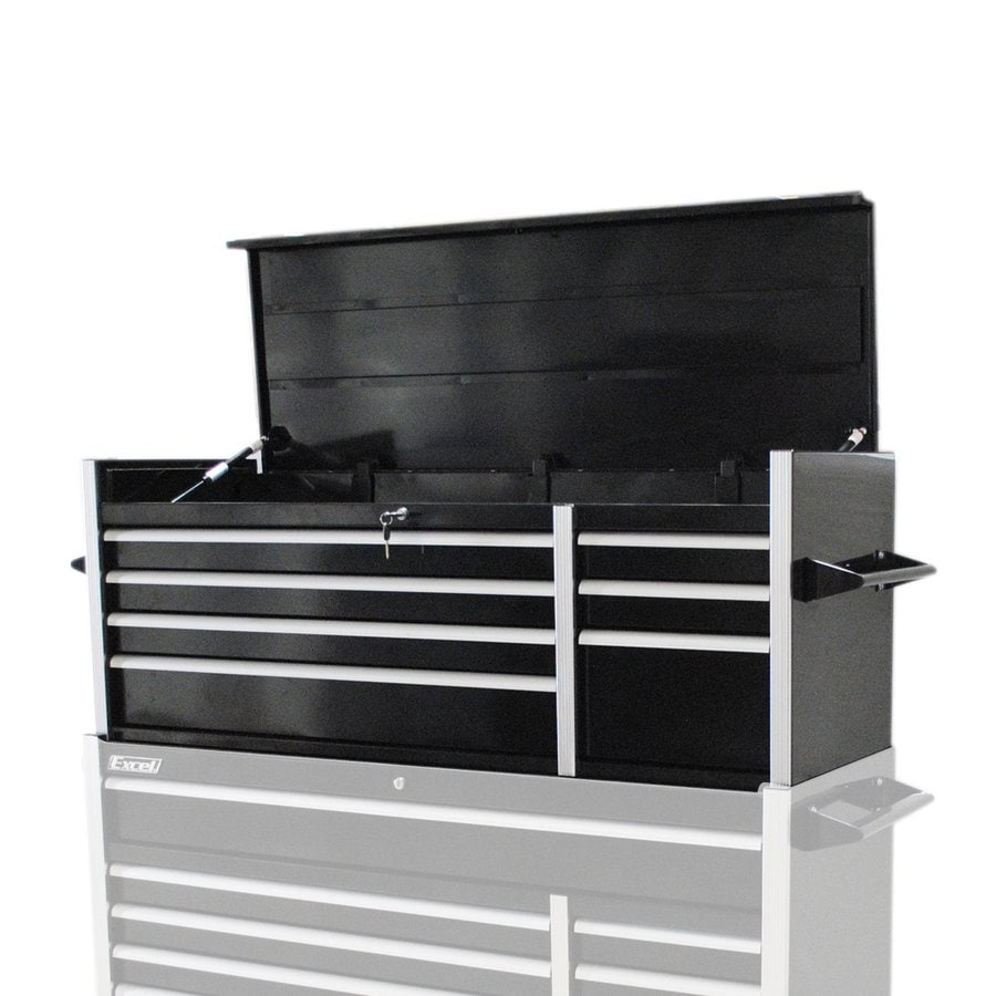 Excel 20.7-in x 55.6-in 7-Drawer Ball-Bearing Steel Tool Chest (Black)