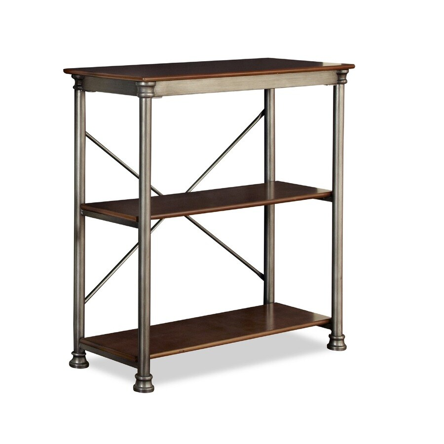 Home Styles 39-in H x 38-in W x 16-in D 2-Tier Steel Freestanding Shelving Unit