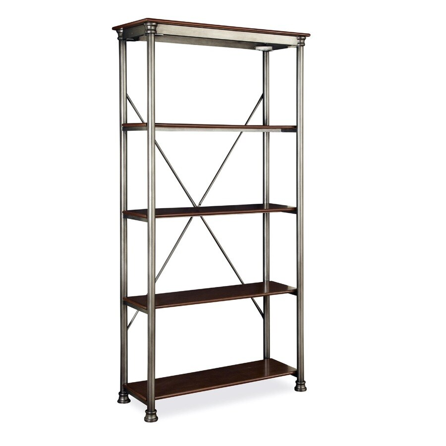 Home Styles 76-in H x 38-in W x 16-in D 4-Tier Steel Freestanding Shelving Unit