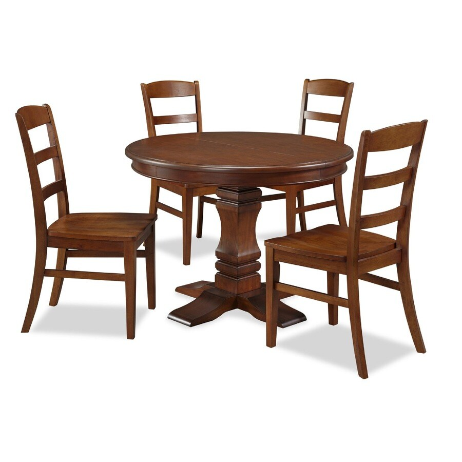Rustic Round Kitchen Table: Shop Home Styles Aspen Rustic Cherry Dining Set With Round