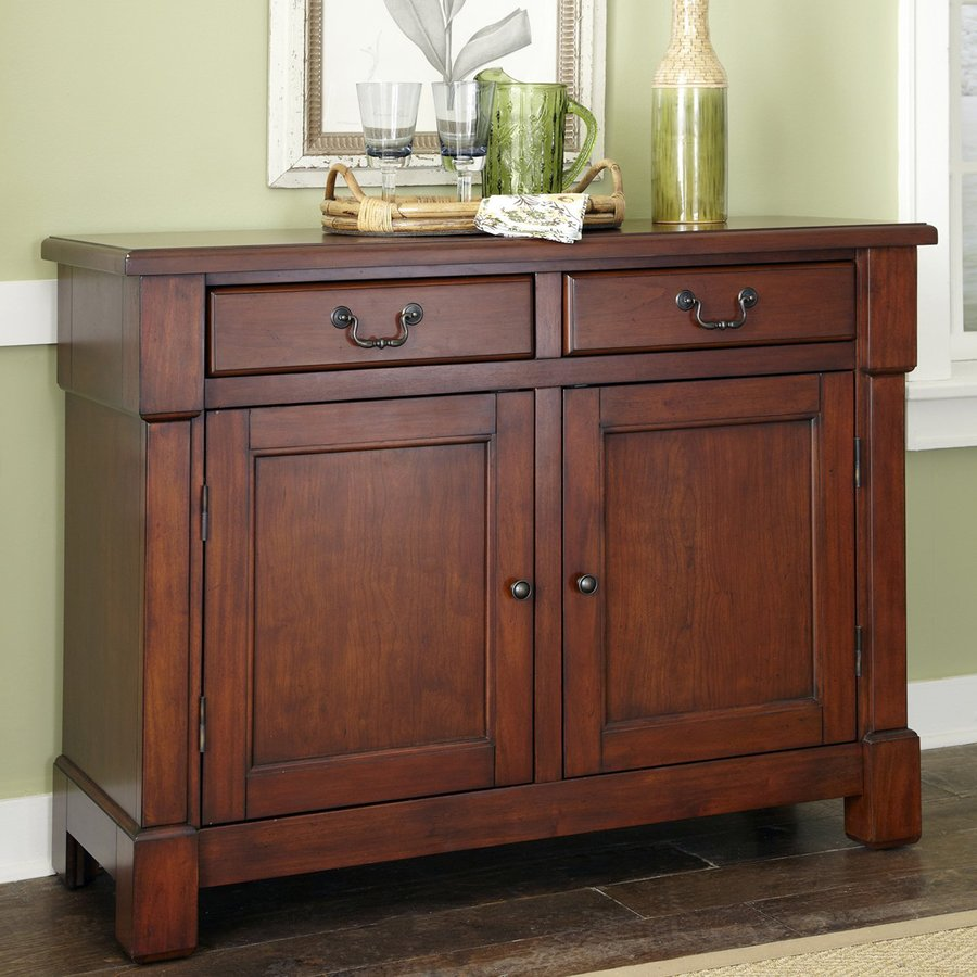 Home Styles Aspen Rustic Cherry Sideboard At Lowes Com