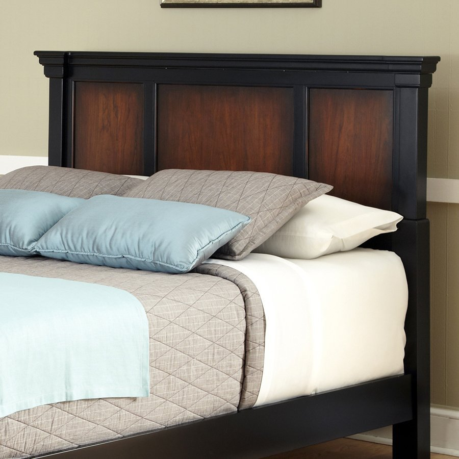 Home Styles Aspen Rustic Cherry Black King Cal Headboard