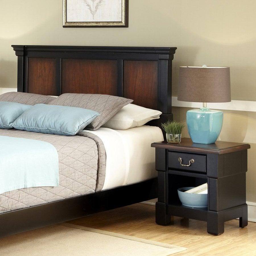 home styles aspen rustic cherryblack king bedroom set at