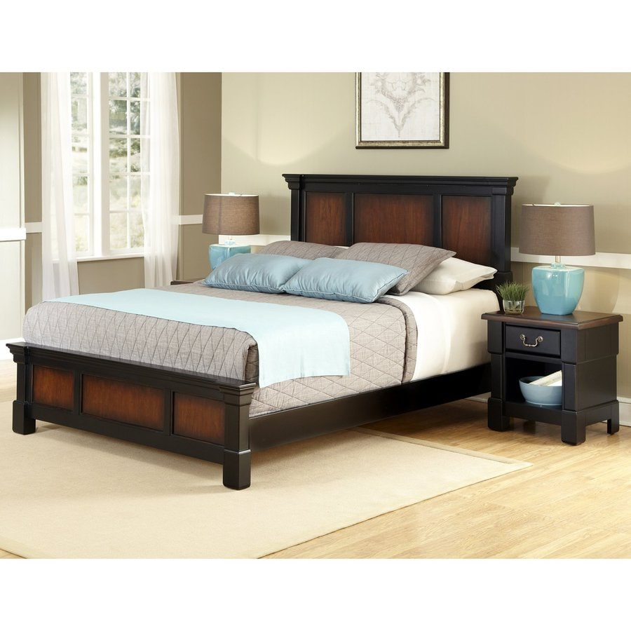 home styles aspen rustic cherry black king bedroom set at