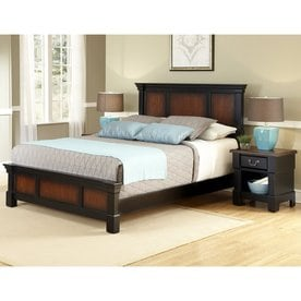 Home Styles Aspen Rustic Cherry/Black King Bedroom Set
