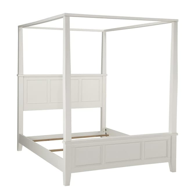 Home Styles Naples White Queen Canopy, Naples White Queen Canopy Bed