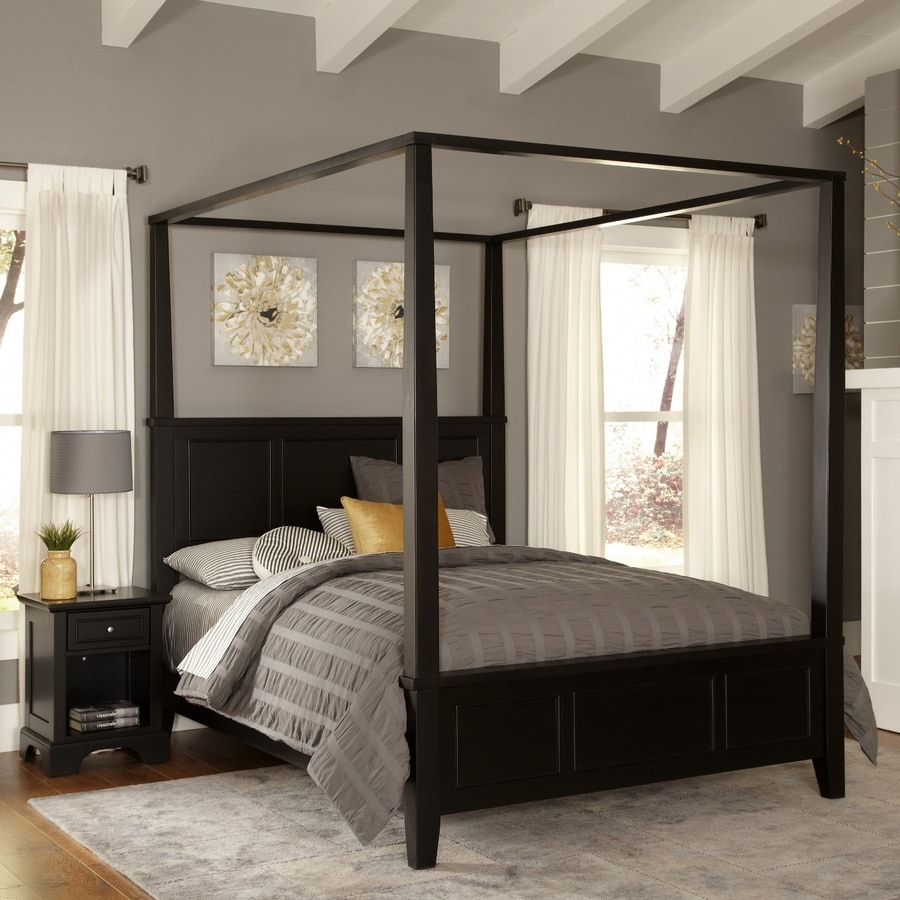 Shop home styles bedford black king bedroom set at lowescom for Home styles bedroom furniture
