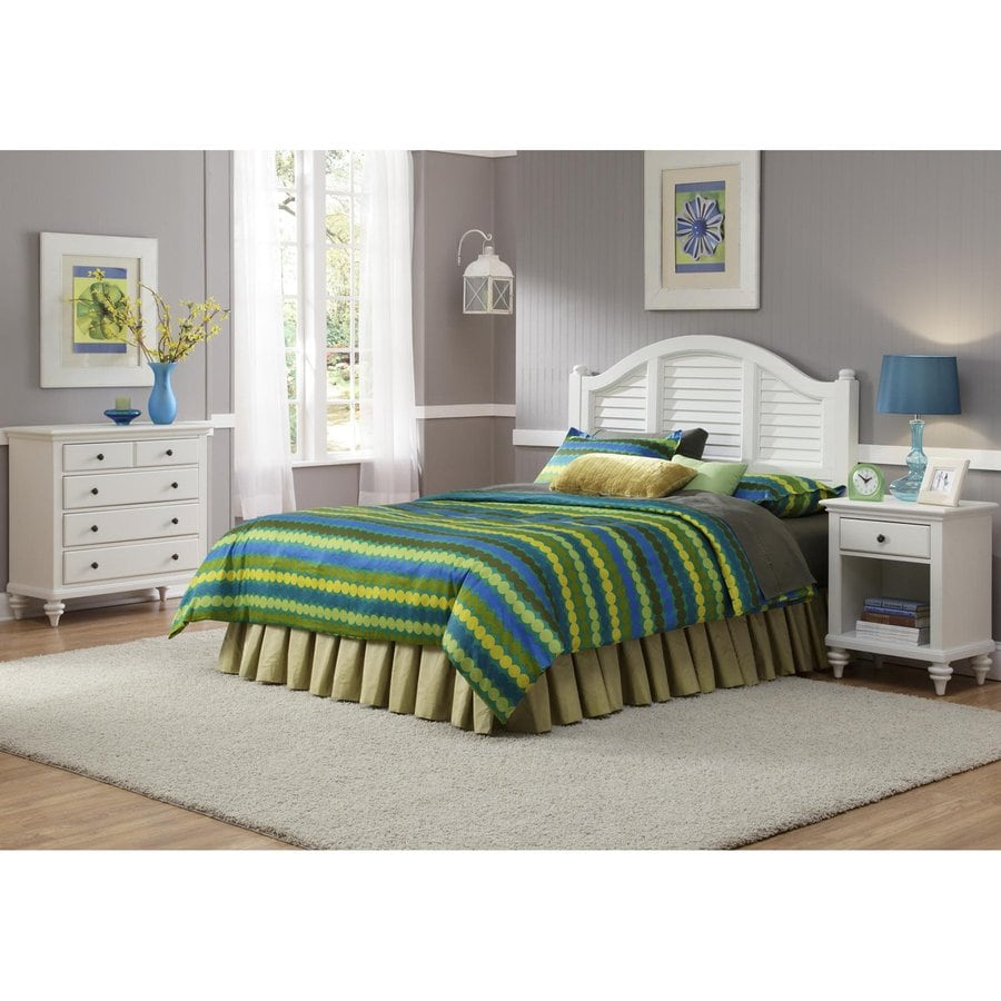 shop home styles bermuda brushed white queen bedroom set at. Black Bedroom Furniture Sets. Home Design Ideas