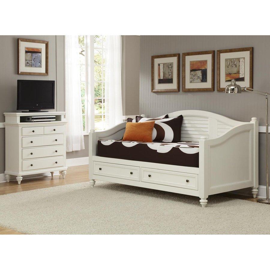 shop home styles bermuda brushed white twin bedroom set at. Black Bedroom Furniture Sets. Home Design Ideas