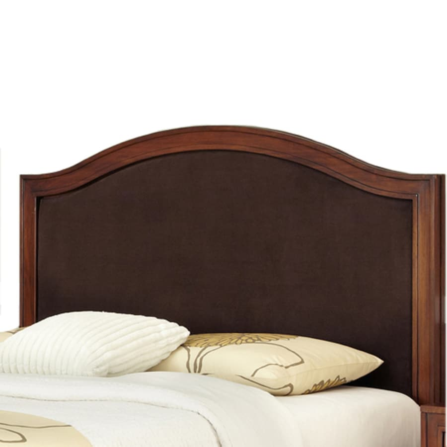 Home Styles Duet Rustic Cherry/Brown King/Cal King Microsuede Upholstered Headboard