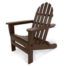 POLYWOOD Folding Classic Adirondack Plastic Adirondack Chair With Slat Seat