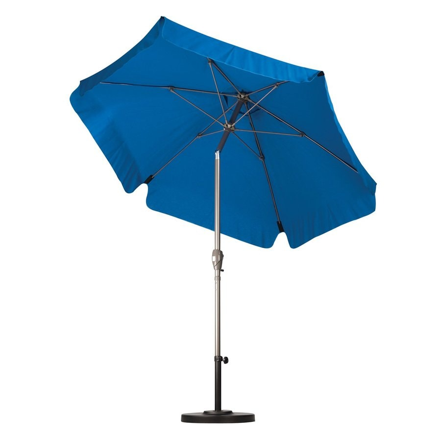 California Umbrella Sunline Pacific Blue Market Patio Umbrella (Common: 7.5-ft W x 7.5-ft L; Actual: 7.5-ft W x 7.5-ft L)
