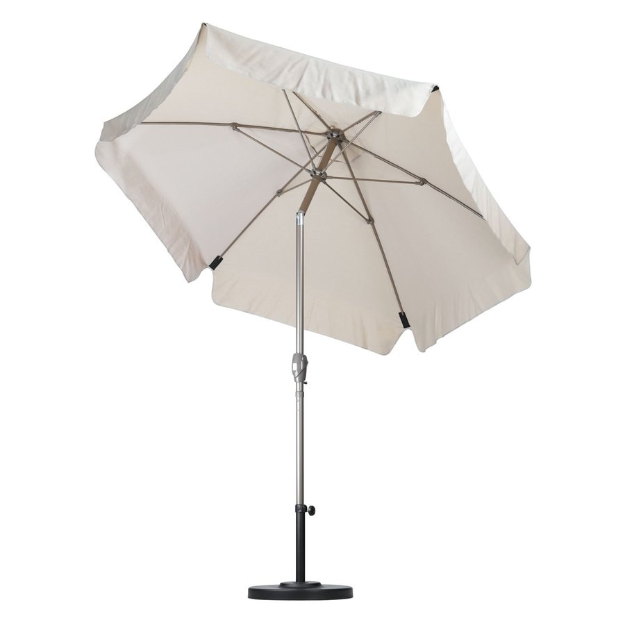 California Umbrella Antique Beige Market Patio Umbrella (Common: 7.5-ft W x 7.5-ft L; Actual: 7.5-ft W x 7.5-ft L)