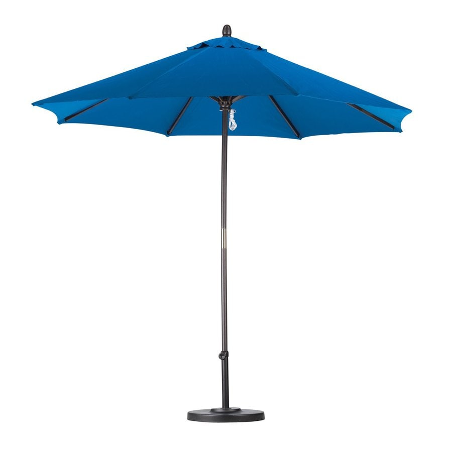California Umbrella Pacific Blue Market Patio Umbrella (Common: 9-ft W x 9-ft L; Actual: 9-ft W x 9-ft L)