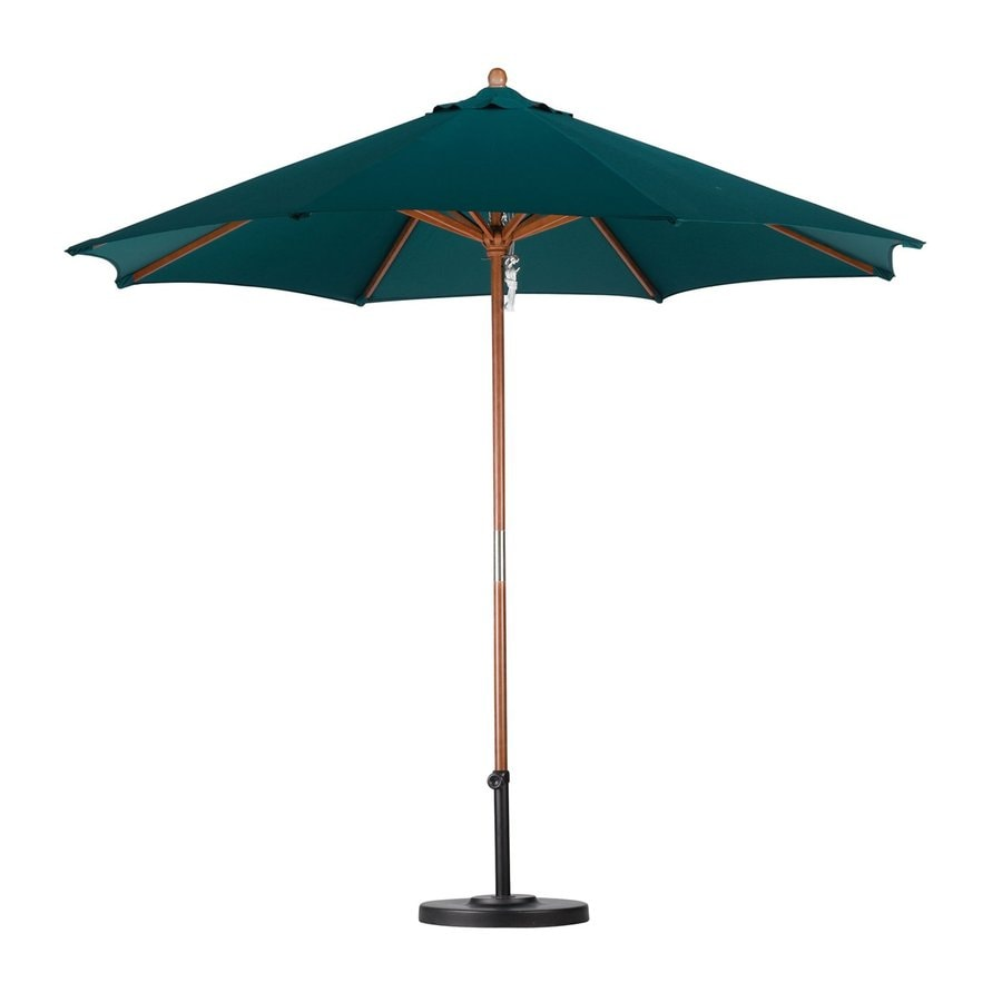 California Umbrella Sunline Hunter Green Market Patio Umbrella (Common: 9-ft W x 9-ft L; Actual: 9-ft W x 9-ft L)
